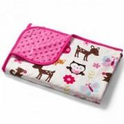 Двулицева бебешка пелена - розова, 1404 02 Babyono, 0200002