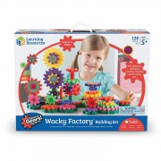 Set de constructie Gears! Wacky Factory Learning Resources, 128 piese, 5 ani+