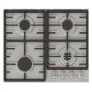 Plita incorporabila Gorenje G641X, 4 arzatoare gaz, 60 cm, Gratare fonta, Inox