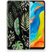 Huawei P30 Lite TPU Hoesje Leaves