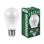 Лампа светодиодная Saffit SBA6020 A60 20W E27 2700K 55013