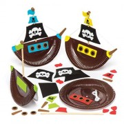 Pirate Ship Plate Kits (Pack of 4)