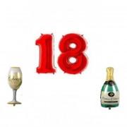 Set baloane folie aniversare 18ani