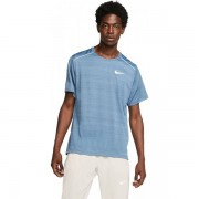 Nike Miler SS Top Men - Male - Blauw - Grootte: Extra Large