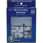 Trumpeter 1/350 SH3H Sea King Helicopter Set (6-Box)