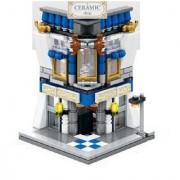 Emob 234 Pcs Classic Ceramic Shop Theme 3D Bricks Building Blocks Set Toy for Kids (Multicolor)