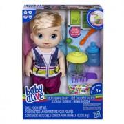 Baby Alive - Papusa bebe interactiv Sweet Spoonfuls, baietel blond