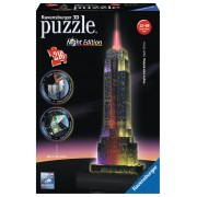 Ravensburger Puzzle 3D Empire State Building - lumineaza noaptea, 216 piese