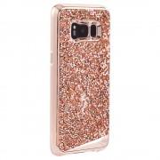 CaseMate Brilliance Case - кейс с висока защита и кристали за Samsung Galaxy S8 Plus (розово злато)