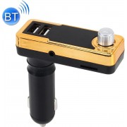 Bluetooth handsfree kit Auto MP3-speler Multifunctionele draadloze auto FM-speler Auto dubbele USB-oplader met LED-scherm Ondersteuning Hand-gratis en TF-kaart