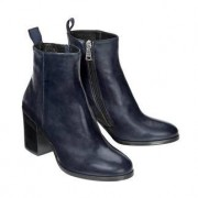 Ma&Lo Lambskin Ankle Boots, 6 - Navy