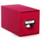 """Roessler Papier - Scatola porta-CD """"S.O.H.O."""", con cassetto e manico, colore: Rosso"""