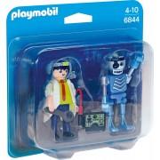 PLAYMOBIL - SET 2 FIGURINE - OM DE STIINTA SI ROBOT (PM6844)