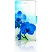 Huawei Y6 II Uniek Design Hoesje Blauwe Orchidee�n