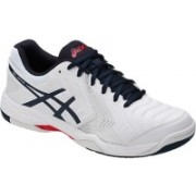 Asics Gel-Game 6 Tennis Shoes For Men(White, Blue, Silver)
