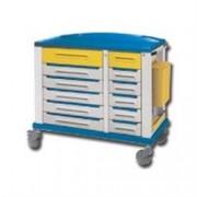 carrello multifunzione farmacia grande - 30 cassetti - serratura - 115