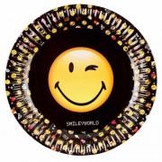 Geen Smiley kinderfeestje borden 8 stuks