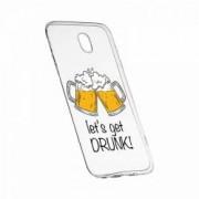 Husa pentru Motorola MOTO E4 Silicon Slim Lets Get Drunk 170
