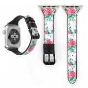 Banda De Reloj De Cuero Para Apple Watch Series 3 Y 2 Y 1 De 38mm