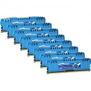 Memorie G.Skill RipJawsZ 64GB (8x8GB) DDR3 PC3-17000 CL10 1.60V 2133MHz XMP 1.3 Octo Kit, Quad Channel, F3-2133C10Q2-64GZM