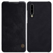 NILLKIN Qin Series Leather Card Holder Case for Huawei P30 - Black