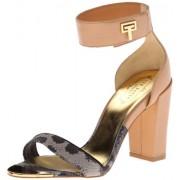 Ted Baker Women's Aaleyah Dress Sandal,Light Brown/Black,6 M US