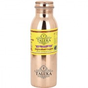 Taluka ( 2.5 x 9. Inches Approx ) Pure Copper Handmade Quality Copper Bottle Water Bottle Joint free - Leak Proof Pure Copper Water Bottle 800 ML Capacity for Good Health Benefits Yoga Ayurveda