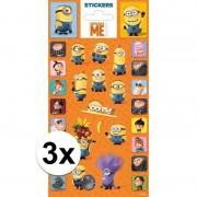 Minions 3 stuks Stickers Minions