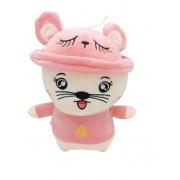Jucarie de plus Pisicuta cu palarie, Toys, Pink 30 cm