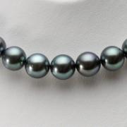 9-11mm 黒蝶真珠 ブラックパール ネックレス (ダークブルー)