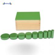 Montesori Kutija sa cilindrom zelena 2 kriterijuma