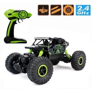 Prime Deals Dirt Drift Waterproof Remote Controlled Rock Crawler RC Monster Truck, 4 Wheel Drive, 1:18 Scale 2.4 Ghz (Multi Colour)