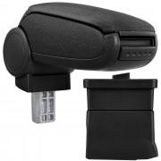 [pro.tec] Márkaspecifikus kartámasz / könyöklő autóba - Ford Ka CC modellhez - szövet - fekete