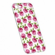 Husa Silicon Transparent Slim Flori Rose 107 Apple iPhone 6 6S