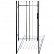 vidaXL Nyílhegyű kerítés kapu 100 x 150 cm