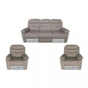 Set Canapea 3 locuri cu 2 reclinere manuale si 2 fotolii cu reclinere manuale Mobila Domnel Md.9939 stofa bej 73 Paramount