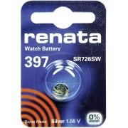 Baterie buton oxid de argint 397, 1,55 V, 32 mAh, Renata