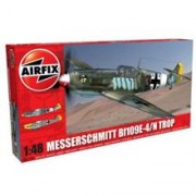 Kit Aeromodele Airfix 5122A Avion Messerschmitt Bf109e-4/N Tropical Scara 1:48