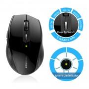 TeckNet M006 Black 2.4G Wireless Mouse - ергономична безжична мишка (за Mac и PC) (черна)