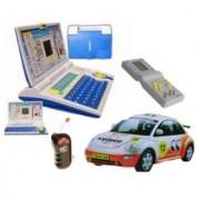 Combo - English Learning Laptop + Radio Control Wireless Remote Car + Brick Game