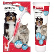 Beaphar Conjunto de limpeza dentária Escova e pasta de dentes
