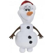 Olaf din Frozen cu caciula de Craciun din plus 35 cm