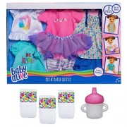 Baby Alive Mix n Match Fashion Outfit Set with Diapers and Sippy Cup Bundle by Hasbro