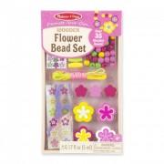 Melissa & Doug Kreatív játék, Kicsi fa gyöngy szett, virágok