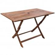 vidaXL Mesa de jantar jardim, madeira acácia