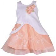 Kids Girls Birthday Party wear Frock Dress for Baby Girl Kids Orange Scuba