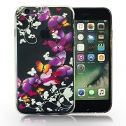 KC 3D Printed Butterfly Soft TPU Anti-Scratch Soft Back Cover for iPhone 5, iPhone 5s & iPhone SE