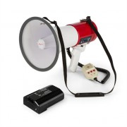 auna 80W Megaphone MEGA080USB Red Plus Rechargeable Battery
