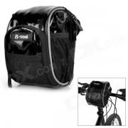 B-ALMA Resistente al agua manillar de la bici Bolsa / Bolsa de hombro - Negro