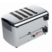 """Diamond Toaster (grille-pain) électrique 4 tranches """"Silver"""" Minuterie avec alarme sonore 36x22x(H)21cm 2300W"""